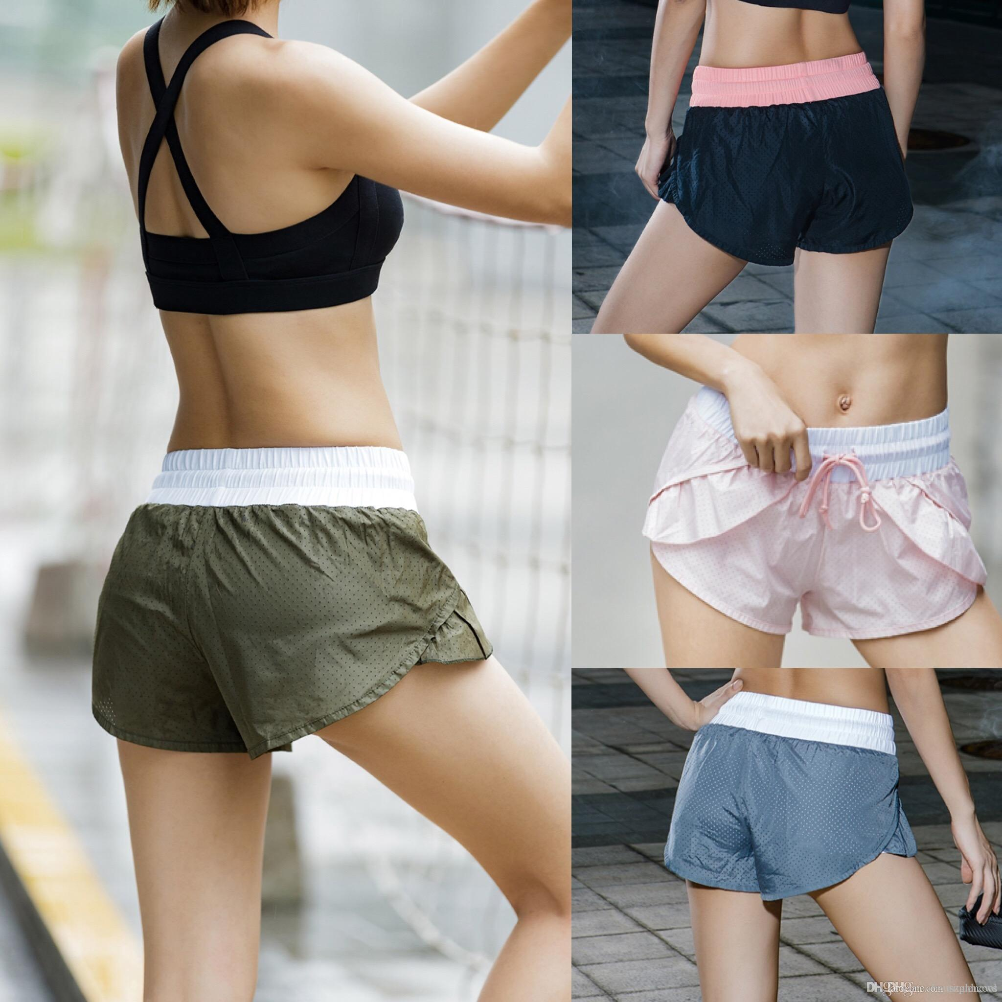 e006b58cc230a 2019 Wholesale Women Sexy Hip Push Up Shorts Fitness Workout Yoga Shorts  New Gym Jogging Shorts Sports Leggings Short Style From Iboutiquenews, ...
