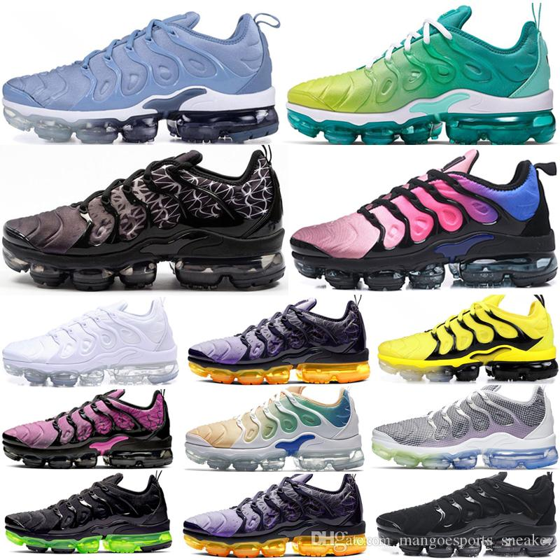 2020 TN Plus Designer Sneakers Hombre Game Royal Orange USA Work Blue Lemon Lime Running Shoes Mujer Geometric Active Fuchsia Runner Trainers