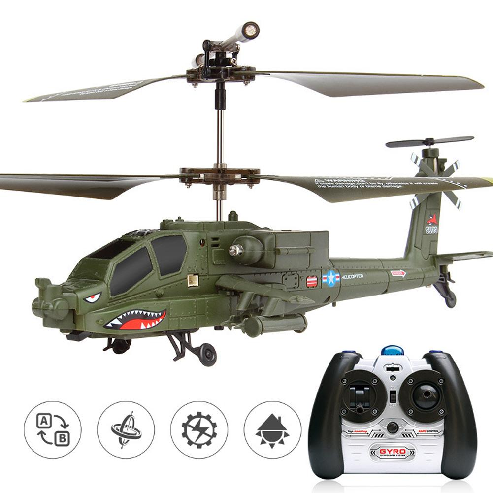 Simulation 3.5-channel Radio Toys Helicopter Apachi RC Remote Control Gift