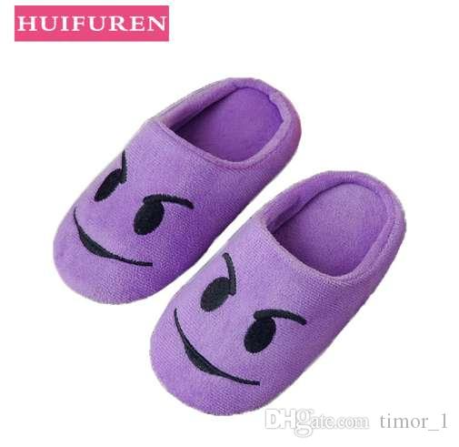 731d759febd9f Shoes Women slippers Soft Velvet Indoor Floor Expression Sneakers Cute  Emoji Home Shoe Soft Bottom Winter Warm Shoes for Bedroom