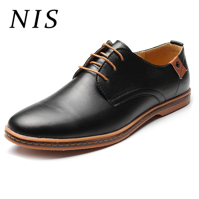 f16bfab93b73 NIS Plus Size Men Dress Shoes Leather Oxford Shoes For Men Formal ...