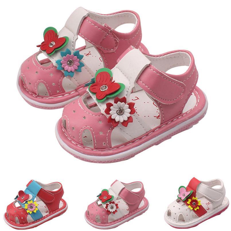 7667fbfc8c2c3 Acheter 3 Couleur Été Bébés Filles Chaussures Nouveau Né En Bas Âge Bébé  Filles Fleur Sandales Semelle Souple Anti Slip Chaussures Bébé Sandales  M8Y14 De ...
