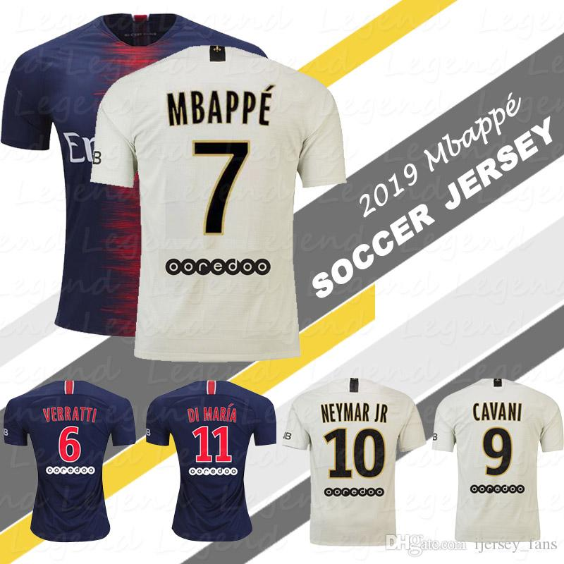 the best attitude 2cffb 980ea 1819 France Authentic Kylian Mbappe Away Soccer Jersey t
