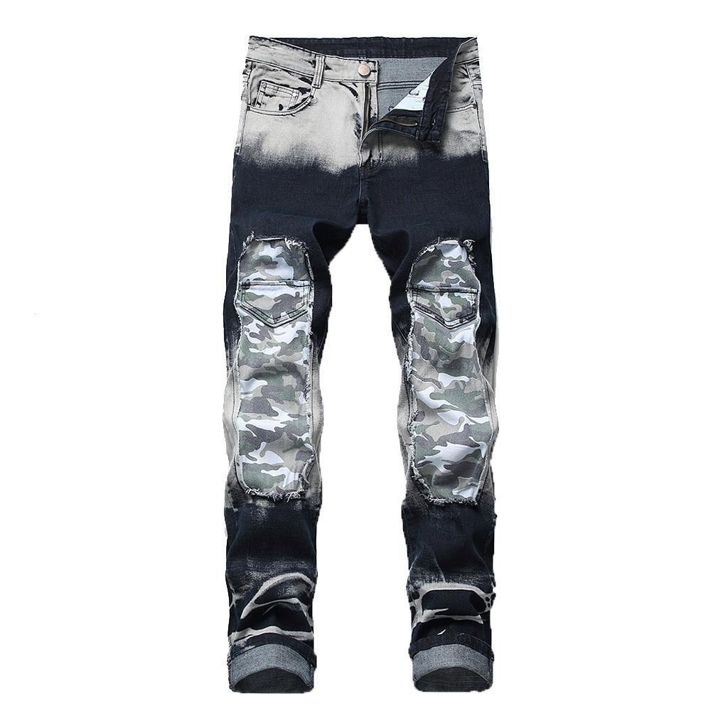 8a905281 2019 2019 Mens Skinny Jeans Black Distressed Denim Stretch Jeans Men ...