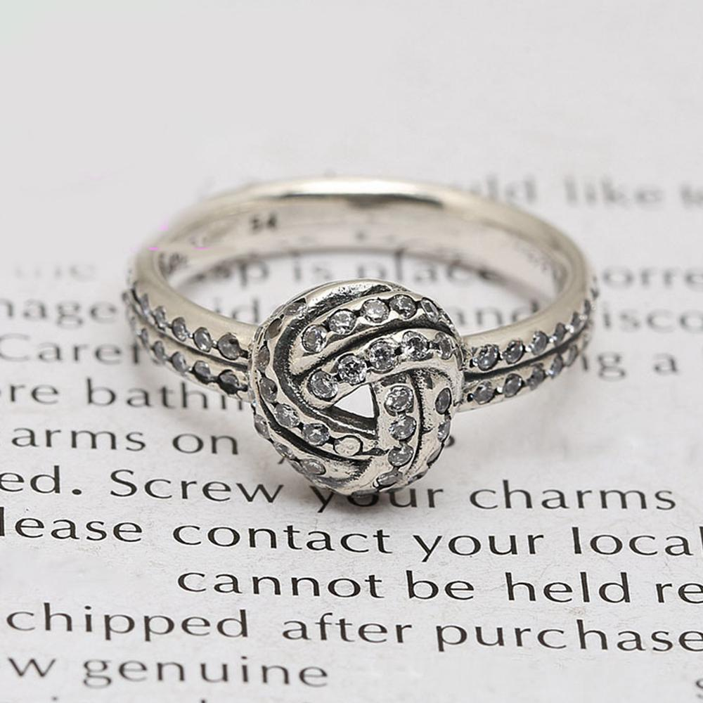 Sparkling Love Knot Ring Real 925 Sterling Silver Sparkling Love Knot Ring  For Fashion Women Band Wedding Rings Bridal Jewelry UK 2019 From Deralam01 9dc2772c4
