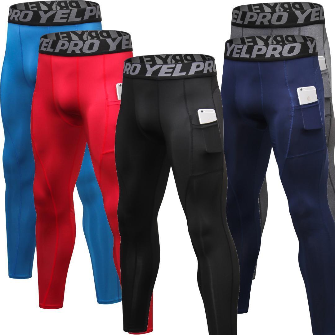Compre Pantalones De Compresión Para Hombre De Queshark Leggings De  Entrenamiento Para Gimnasio f445e378506cb