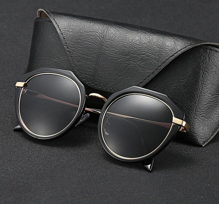 6141e5375c Compre 3647 Gafas De Sol De Puente Doble Redondo Mujer 51mm Espejo Marrón  Degradado Y Lentes De Vidrio Negro Gafas Sol Gafas Occhiali UV400 C18110601  A ...