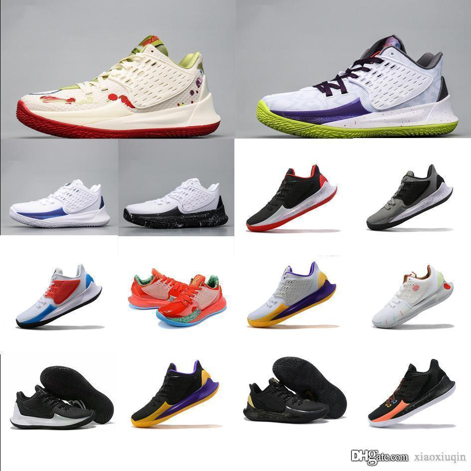 Cheap mens kyrie irving low cut basketball shoes for sale Red Christmas Easter Mamba Day Laker Purple kyries 2 lows sneakers tennis with box