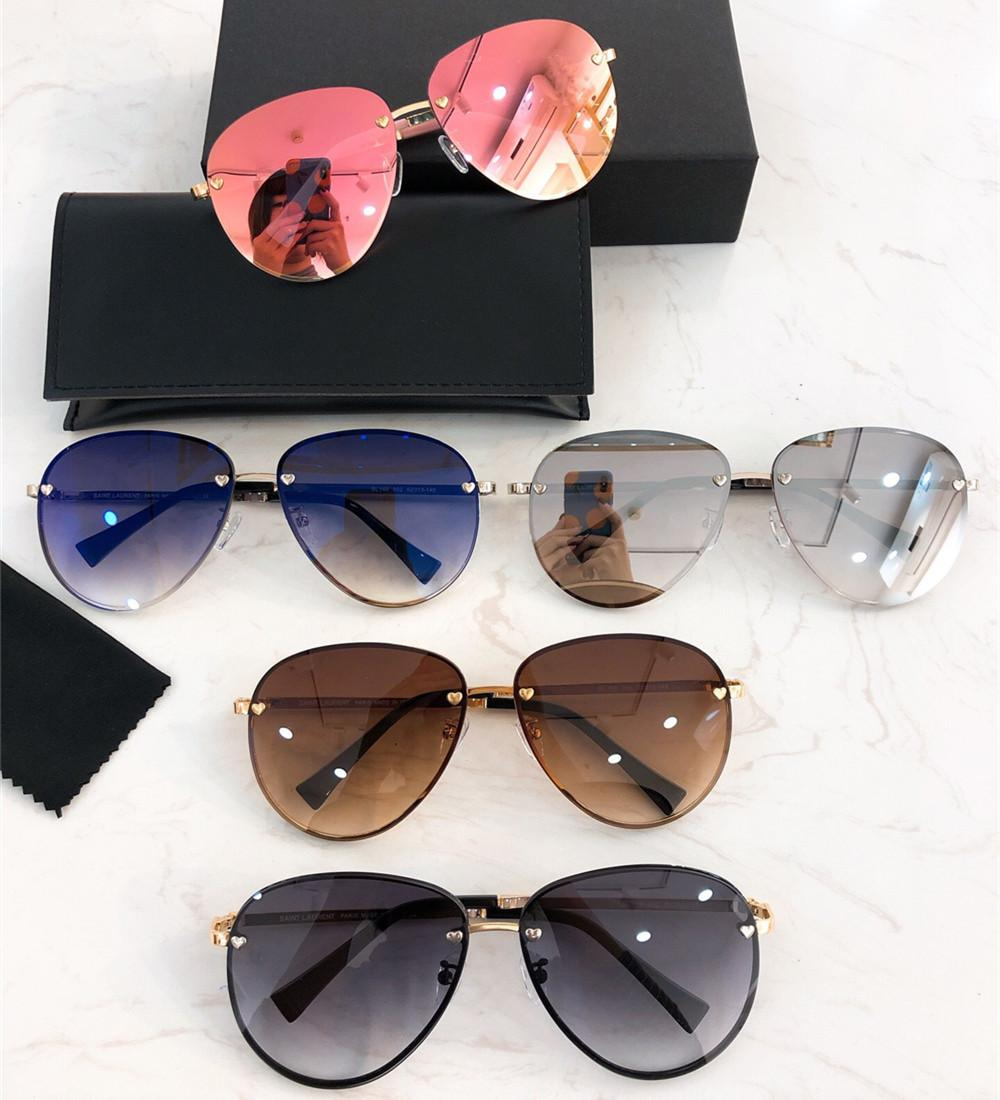 1a3dd6de8b 2019 Hot Mirror Pilot Sunglasses Fashion Designer Women Oversized Gradient  Eyewear 100% UV Protection Luxury Oval Sunglasses With Retail Box Super ...