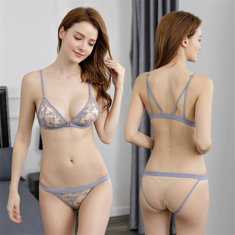 c8007e4cab9 2019 Floral Embroidery Bra Set Female Underwear Sexy Lingerie Lace Bralette  Set Women Lingerie Set Soft Complete Sets Of Underwear From Youerclothing