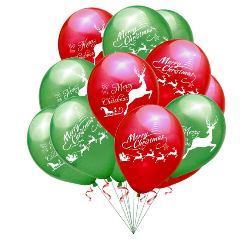 100 pcs 12 inch Christmas Balloon kid child toy Latex Helium Balloons Fashion wedding Decor High Quality Inflatable Air Balls wholesale