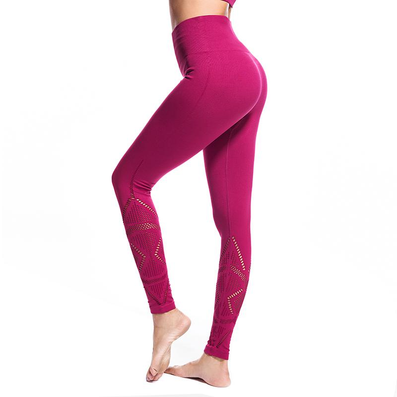 9b71570a4c 2019 AALAMGEER High Waist Elastic Gym Leggins Mujer Fashion Hollow Out  Quick Dry Breathable Women Fitness Workout Seamless Leggings From Edward03,  ...