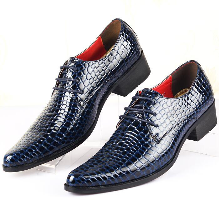 NEW crocodile grain cusp leather shoes Men's dress shoes, Male Business shoes ,Top quality brand men Wedding shoes G2.34