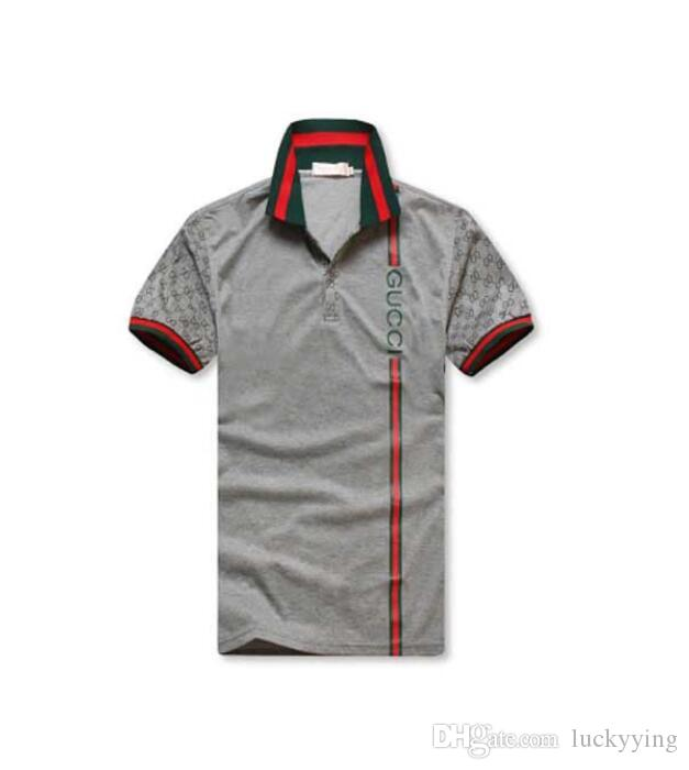 82d748ab765 NEW Sell New Logo Brand GUCCI Crocodile Embroidery Polo Shirt Men Short  Sleeve Casual Shirts Man s Solid Polo Shirts Camisa Polo  8958 Men s T Shirt  Men s ...