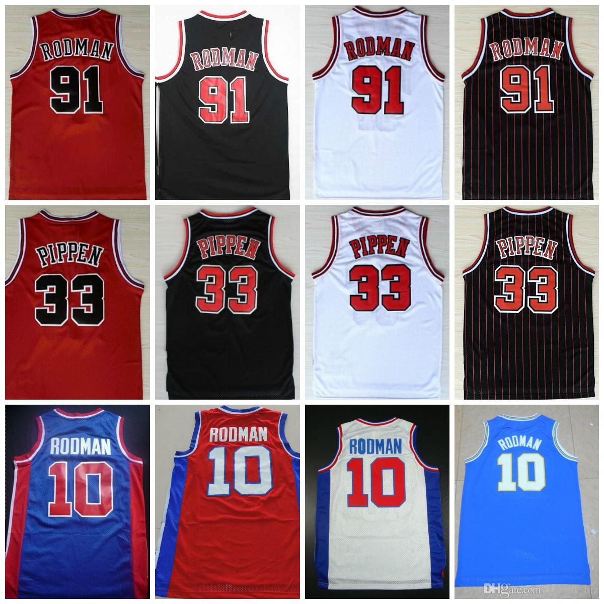 check out ee8d4 31cc8 Oklahoma Savages 91 Dennis Rodman Jersey The Worm 10 Dennis Rodman Mens 33  Scottie Pippen Jerseys Stitched Red White Black Shirts S-XXXL