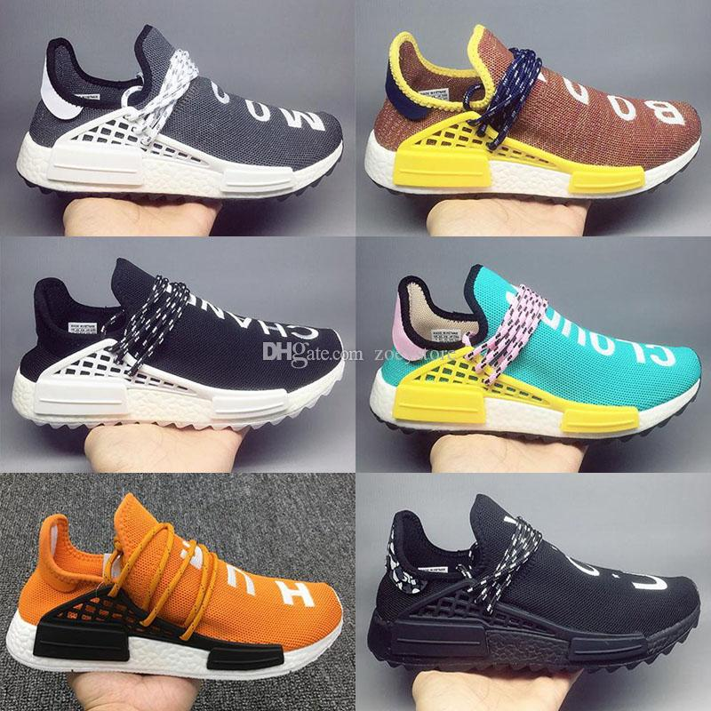 new concept 6807f bf670 2018 New Pharrell Williams X Sports Running sneakers women Cheap top  Athletic mens Outdoor Training Sneaker Shoes