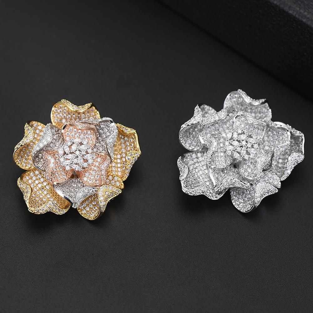 wholesale Noble Flower Brooches for Women Wedding Engagement Anniversary Occasions Party Jewelry Best Lover Valentine's Gift