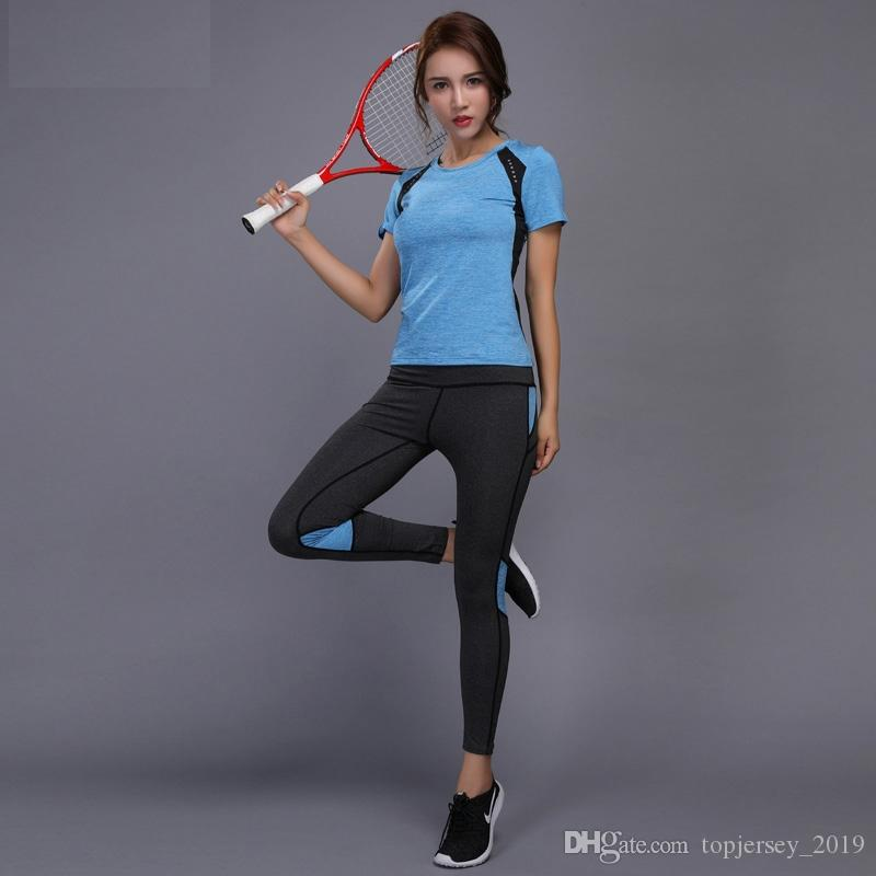 b9ed3f1b9d 2019 Sport Suit Women Yoga Set Running Fitness Clothing Female Stretchy  Leggings High Waist Seamless Exercise Pants Loose Shorts #257277 From  Topjersey_2019 ...