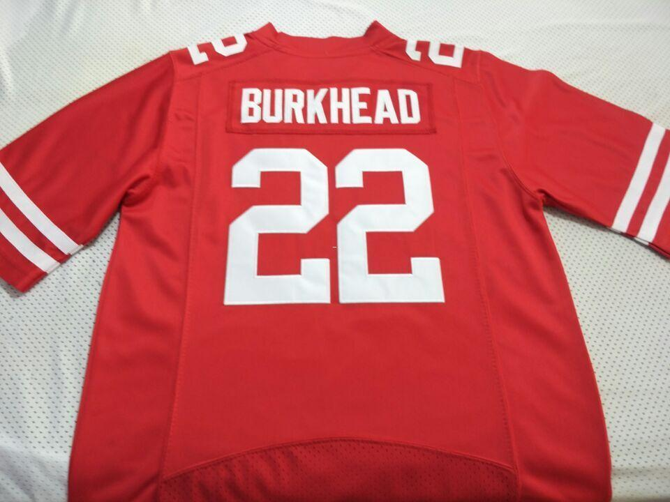 new products 49012 73bcb Men Nebraska Cornhuskers Rex Burkhead #22 real Full embroidery College  Jersey Size S-4XL or custom any name or number jersey