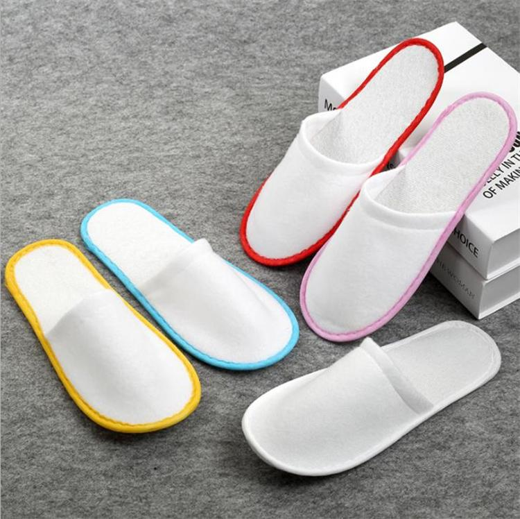 633add2e2e88 2019 HOt Mix Color Disposable Indoor EVA Slippers Towelling Hotel Toilet  Supplies Disposable Slippers Terry Spa Guest Shoes Home Shoes IB335 From  Sanera