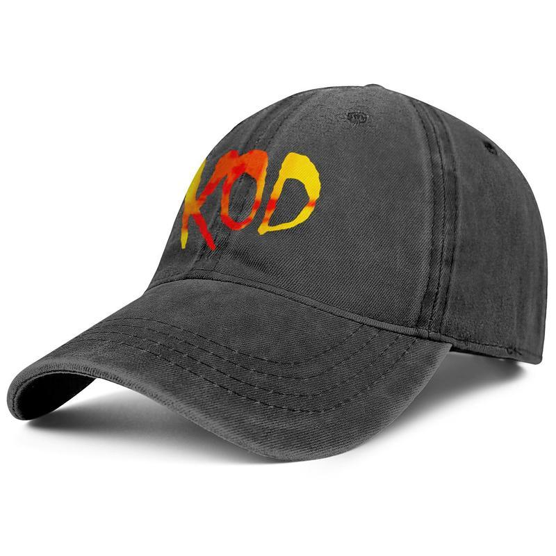 J. Cole KOD Album black mens and womens trucker denim cap design fitted custom design your own vintage personalized trendy original denim h