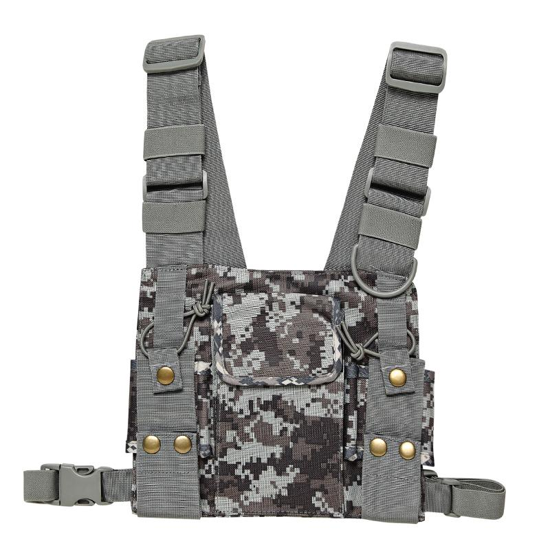 Walkie Talkie CS Tactics Chest Harness Front Pack Pouch Holster Vest Rig for Baofeng UV-5R UV-82 888S Radio Walkie Talkie Rescue Essentials
