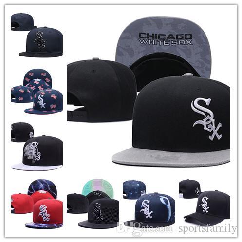 e58c2e45c481f Compre 2019 Nuevo Llegado Chicago Moda Gorras Planas Sombrero Sox Blanco  Ajustable Huesos De Béisbol Aba Reta Gorra De Hockey Snapback Ajustable  Hiphop ...
