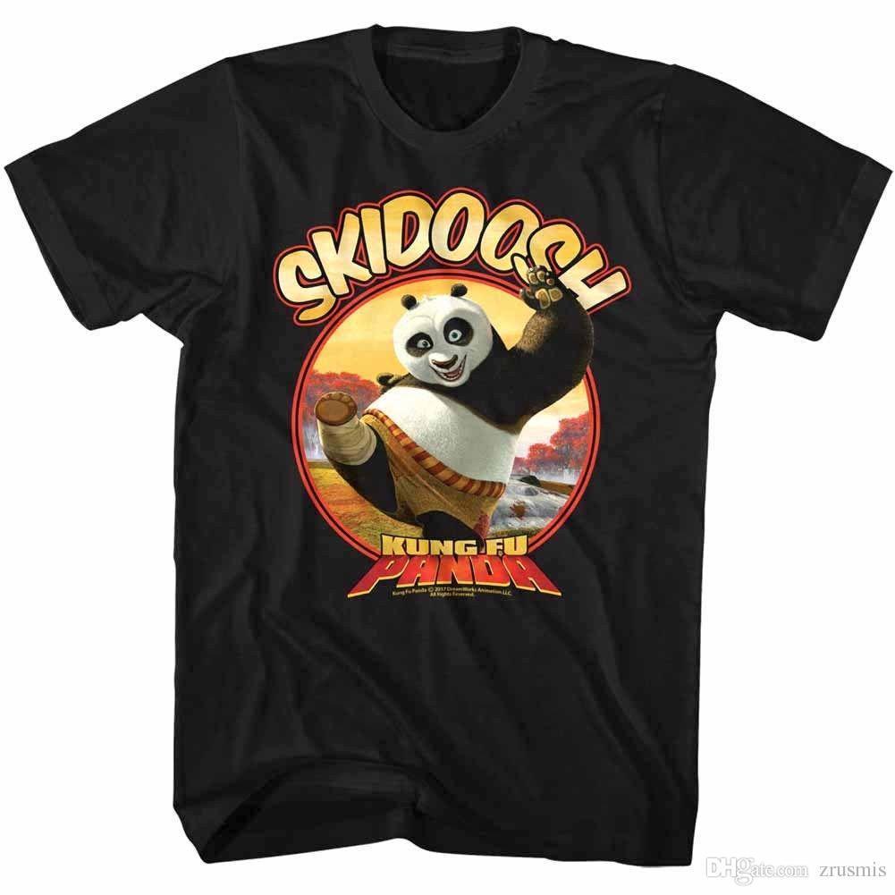 b64883f57 Kung Fu Panda Po Skidoosh Fat Ninja Warrior Men's T Shirt Dreamworks  Cartoon Top