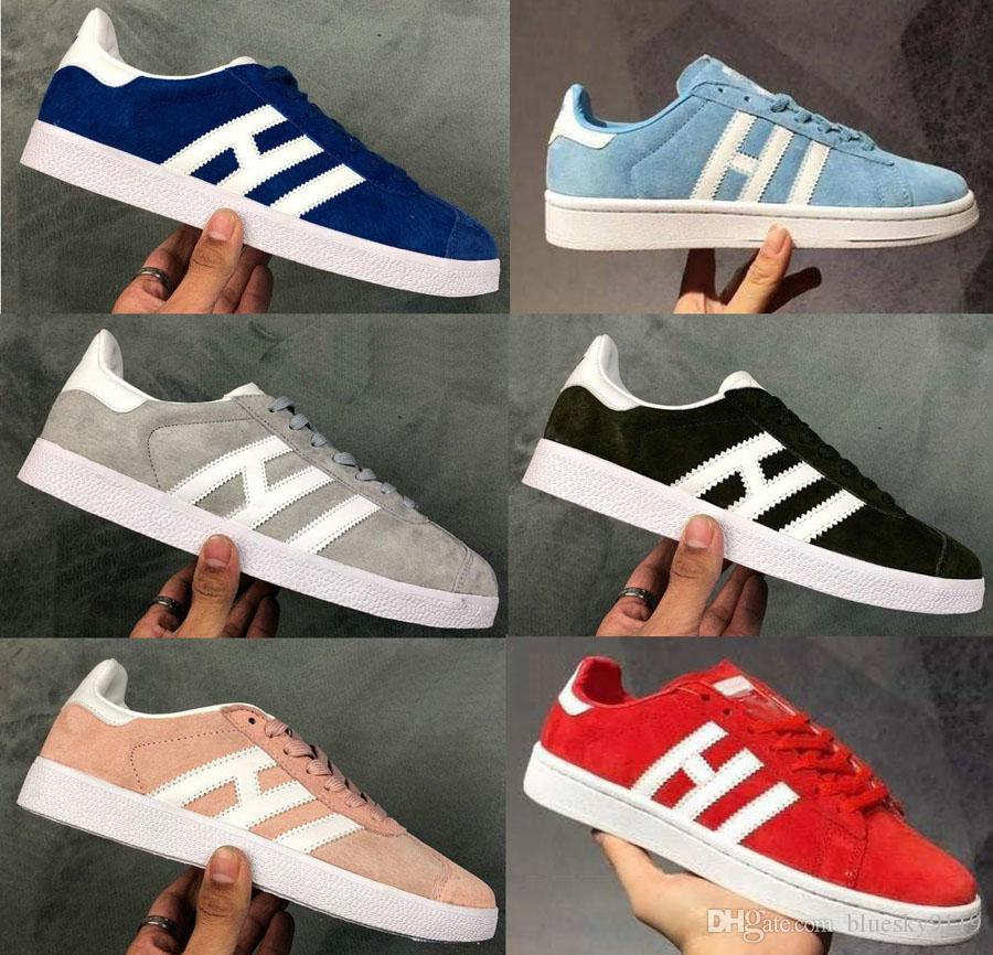 2019 top quality Original Gazelle Vintage Casual Lovers Shoes Campus Pop Girl and Boy GAZELLE OG Flat Superstar Casual Sneakers DD125