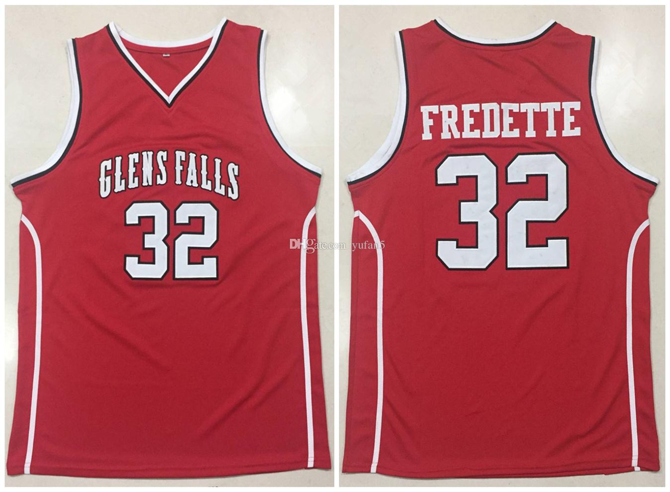 low priced 2bbaf 4dc51 Glens Falls Indians High School Jimmer Fredette #32 Red Retro Basketball  Jersey Mens Stitched Custom Any Number Name Jerseys
