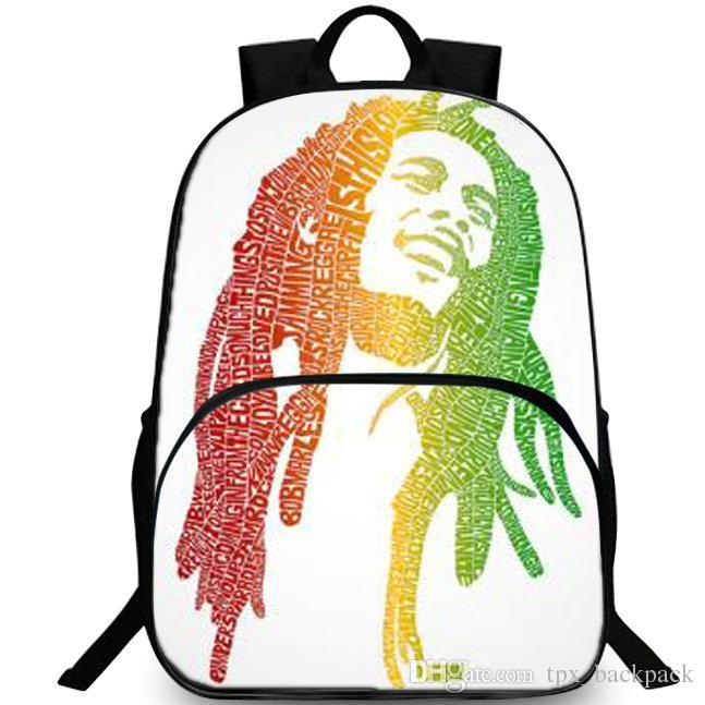 91122a394d Bob Marley Backpack Reggae Music Day Pack Pop Star School Bag Leisure  Packsack Quality Rucksack Sport Schoolbag Outdoor Daypack One Strap  Backpack ...