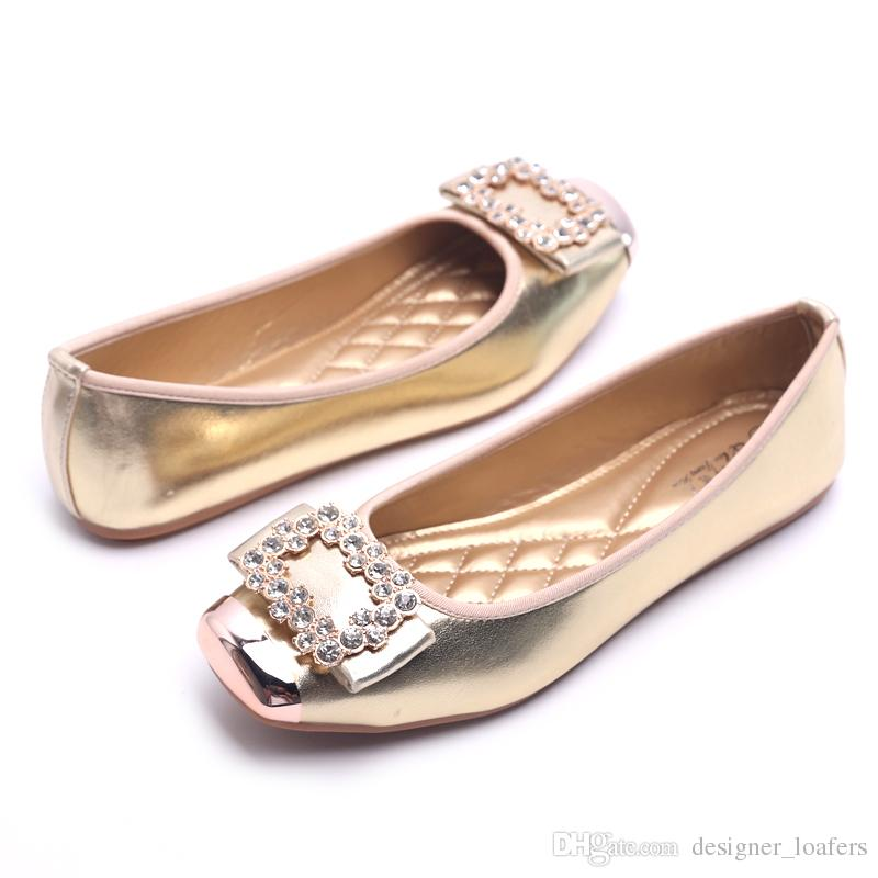 5e19a12ceed Big Size Women Loafers Rhinestone Square Toes Ballet Shoes Designer Flat  Loafers Lazy Shoes Luxury Doug Shoes Womens Pumps Q 262 Basketball Shoes  Mens Shoes ...