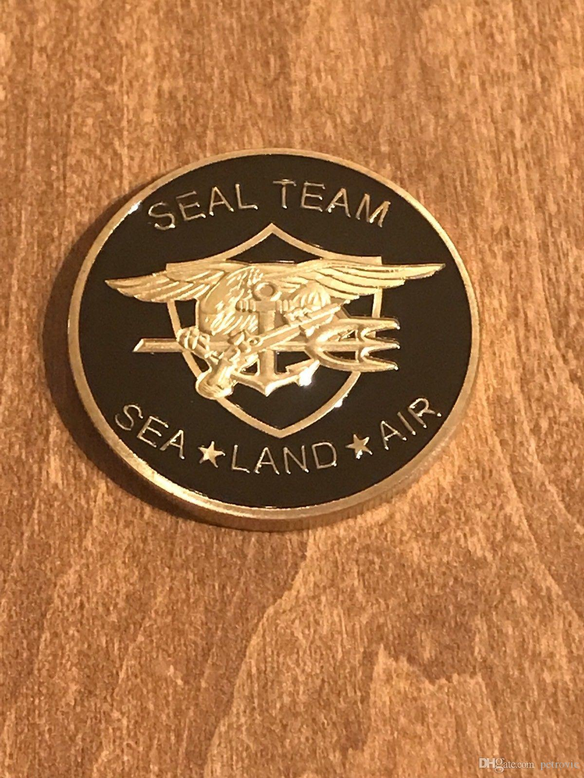 Free Shipping 2pcs/lot, United States Navy Challenge Coin Seal Team Sea  Land Air Challenge Coin