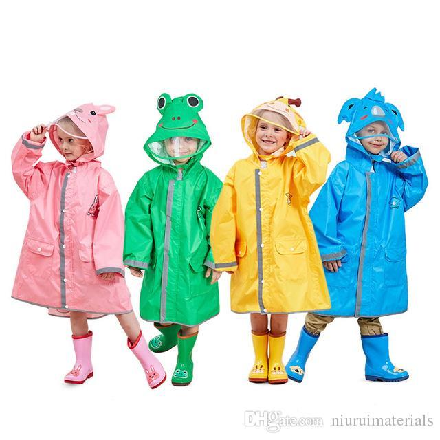 1b58e0f047db 90-145CM Waterproof Raincoat for Children Kids Baby Rain Coat Poncho ...