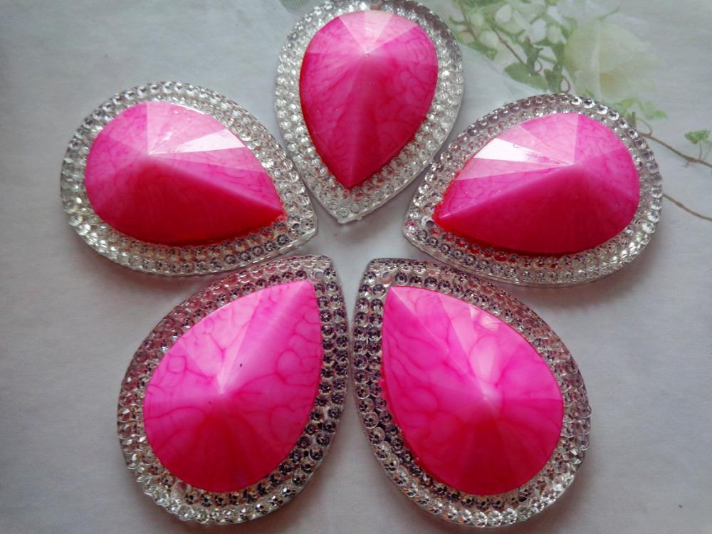 30 40mm Big Drop Shape Pink AB Colour Rhinestones Sew On Crystal Flatback  Resin Gem Stones UK 2019 From Fashion29 61bfc44be9ad