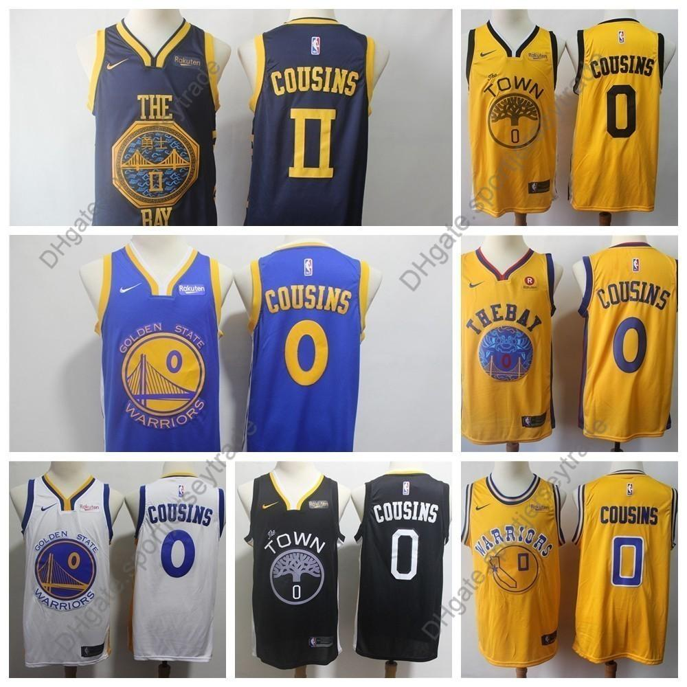 new style 4dd09 6cc96 2019 Earned Mens #0 Golden DeMarcus Cousins Warriors Edition Basketball  Jerseys City DeMarcus Cousins Edition Stitched Shirts S-XXXL