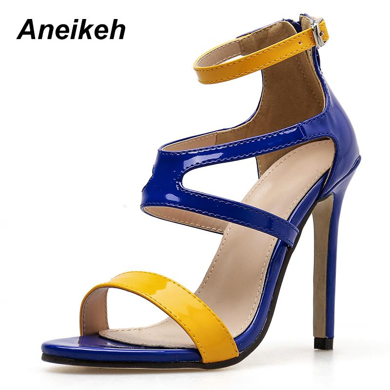 04b9760ae28e8f Wholesale Mixed Colors Fashion Sexy Single Buckle Ankle Strap Thin ...