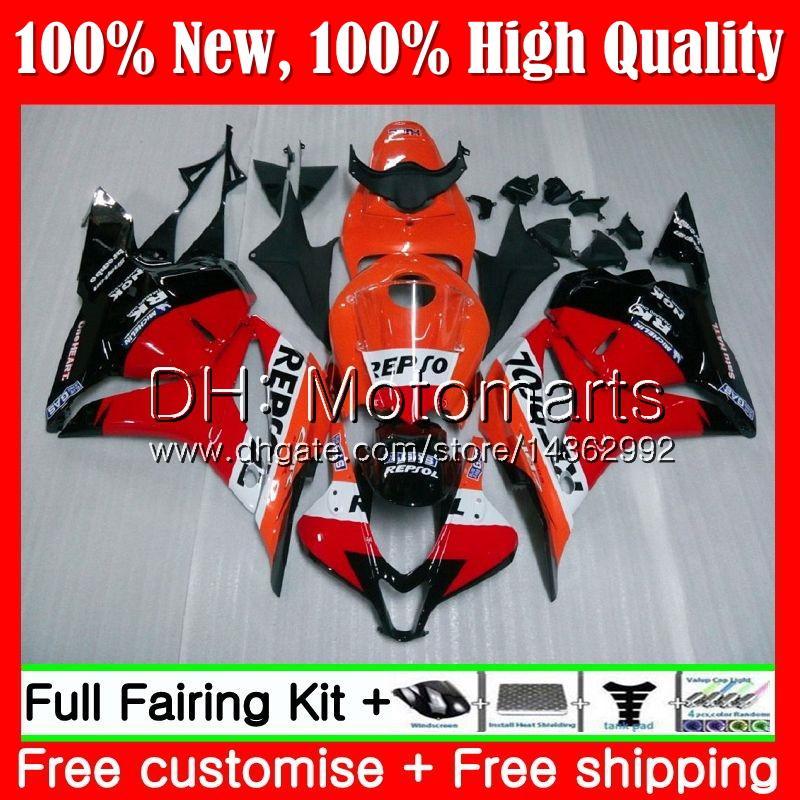 Iniezione + Serbatoio per HONDA CBR600RR CBR 600 RR F5 09 10 11 12 61MT10 Repsol rosso CBR 600RR CBR600 RR 2009 2010 2011 2012 Carenatura Carena