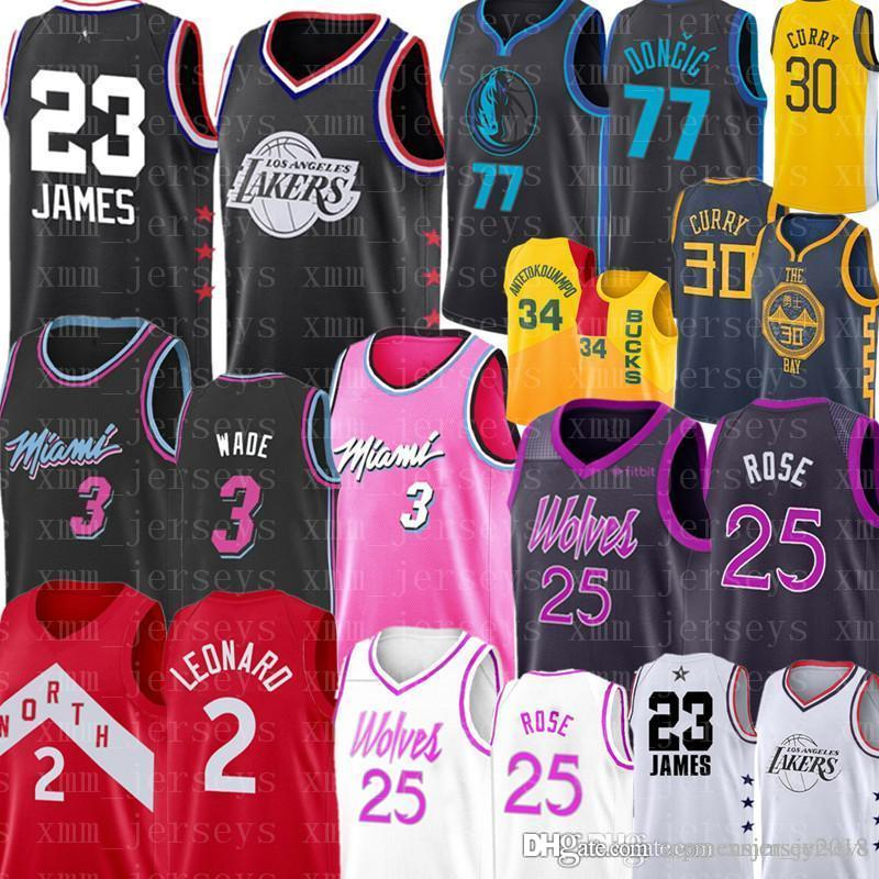 Top Derrick 25 Rose Timberwolves Luka 77 Doncic Jersey Dwyane 3 Wade 30  Curry 2 Leonard Jerseys Los Angeles LeBron 23 UK 2019 From  Topmensjersey2018 c7de9cf6a