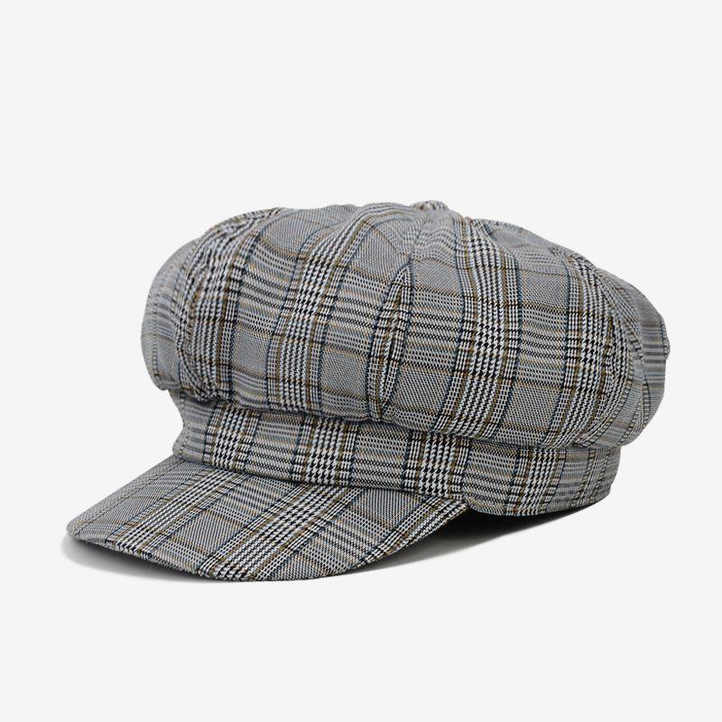 7ecf03718dbe7 2019 DeePom Beret Hat Women Plaid Newsboy Cap New Spring Hats For Women  Boina Feminina England Painter Cap Casual Classic Vintage From Xiajishi