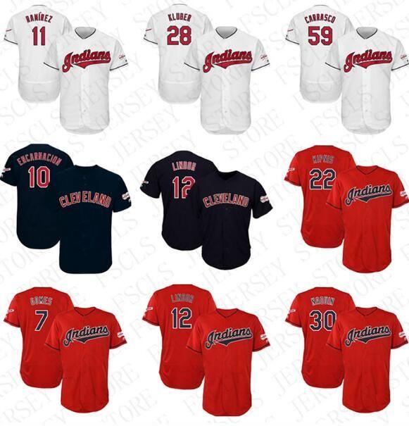 ddaf71582 2019 Mens Custom Cleveland Indians 2019 All Star Game Patch Francisco Lindor  Jose Ramirez Jason Kipnis Yan Gomes Corey Kluber Baseball Jersey From ...