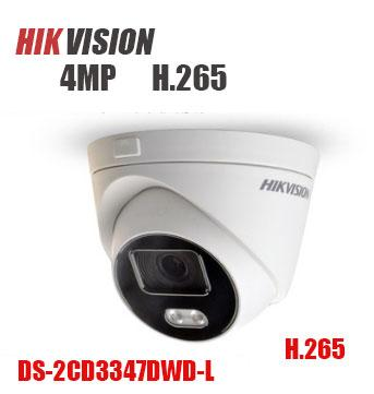 HIKVISION Wide-Angle 180 Degree DS-2CD3347DWD-L 4MP H 265 IP Dome Camera  Support ONVIF PoE/DC12V IR 10M