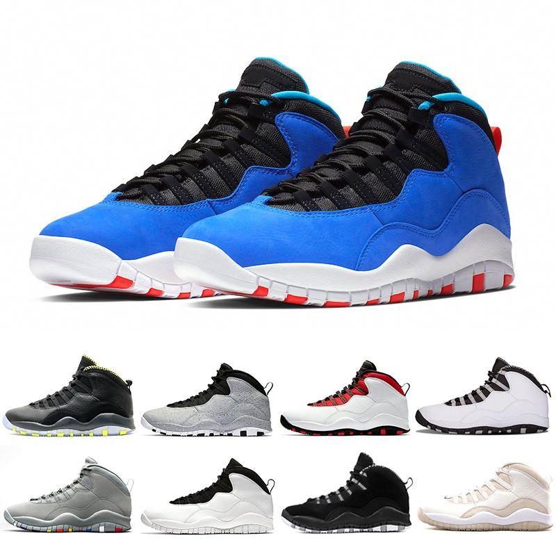 separation shoes abf6d 52b99 Nike Air Jordan retro 10 Tinker Huarache Light 10s Chaussure de basketball  Cement 10 Westbrook je suis de retour Blanc Noir Cool Gris Rétro Bobcats ...