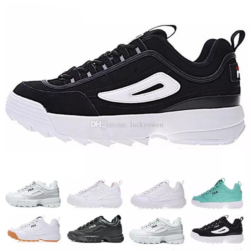 e62c43eb51d2 2019 Fila Disruptors II 2 Running Shoes For Men Women Filas White Sawtooth  Muffin Knitted Luxury Designer Sports Sneakers Hiking Jogging Eur36 44 From  ...