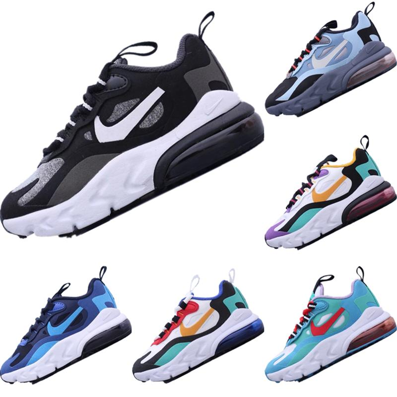 2020 React270 Kids Fly Wire Breathable Running Shoe Original React270 Bauhaus React Built_in Zoom Air Cushioning Jogger Shoe
