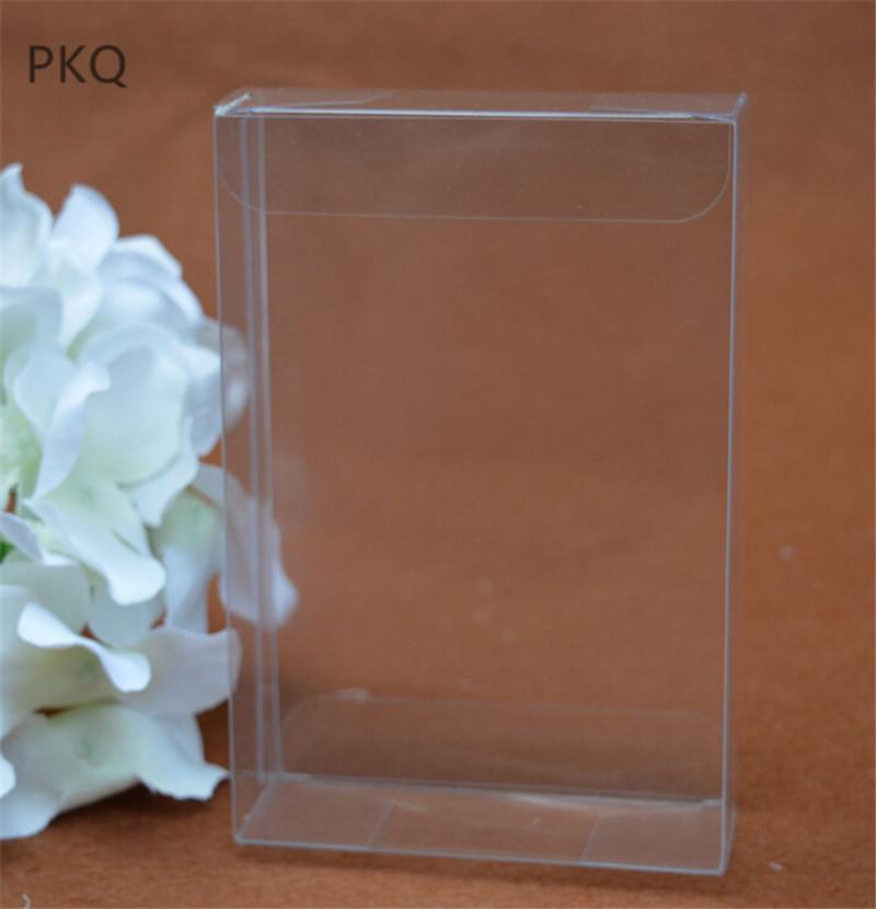 20pcs 5x15x25cm Rectangulo Caja De Pvc Transparente Para Mascara Manualidades Caja De Plastico Transparente Grandes Cajas De Regalo De Pvc Para