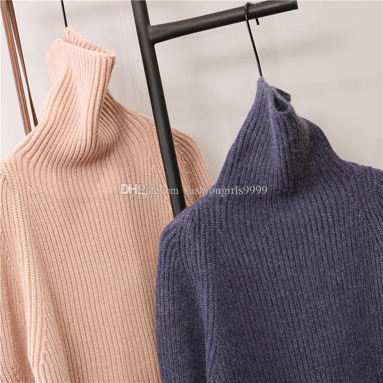 Compre Oumeifeng Color Puro Cuello Alto Suéter Grande Este Año Nuevo Otoño  Invierno Grueso Suelto Gran Tamaño Suéter Top Ráfaga A  28.65 Del ... c294615b1ce5