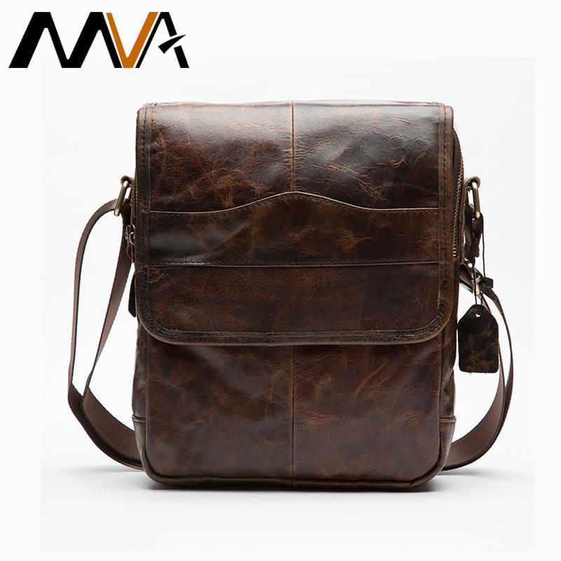 Vintage Men Messenger Bags Small Genuine Leather Shoulder Crossbody Bags  Men S Leather Bag Men Handbag Casual Small Flap MVA Relic Purses Fashion  Bags From ... 47ec75581418e