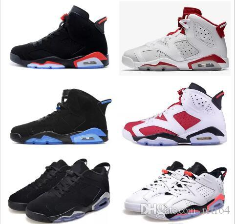 a3d6395adc0de7 Mens And Womens Basketball Shoes 6S Black Cat Alternate Gatorade Green  University Blue Carmine For Men Sneakers Athletics Boots Running Shoes  Basketball ...