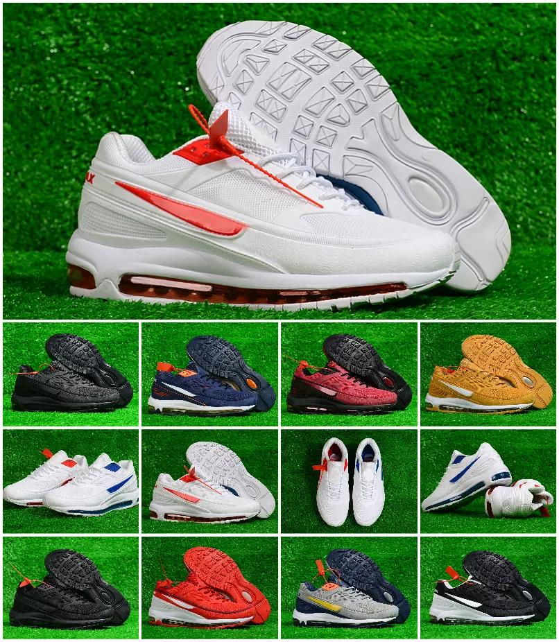 01d4edfed5 2018 New Air 97 BW X Skepta London Bronze White Red Blue Two-tone ...